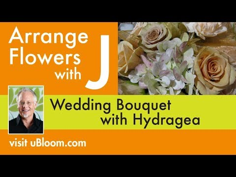 How to Make a Hydrangea Wedding Bouquet!