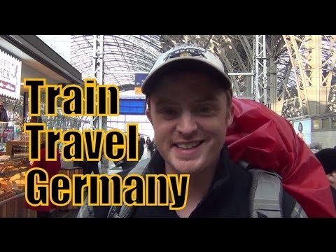 Taking the train in Germany from Frankfurt to Berlin
