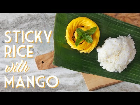 COCONUT STICKY RICE WITH MANGO ROSE