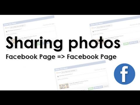 Sharing Photos from Facebook Photo Albums on a Facebook Page
