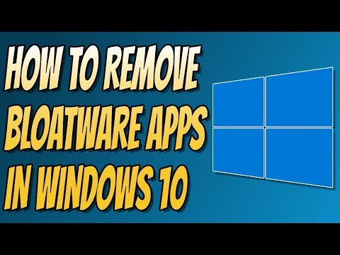 How To Remove Bloatware From Windows 10 | Uninstall Pre-Loaded APPS FREE HDD Space!