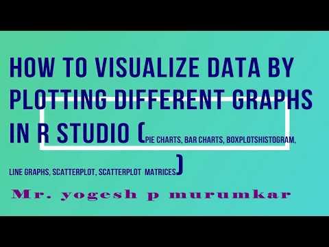 How to visualize data by plotting graphs in R pie chart,barchart,boxplot,scatterplot,scatterplot mat
