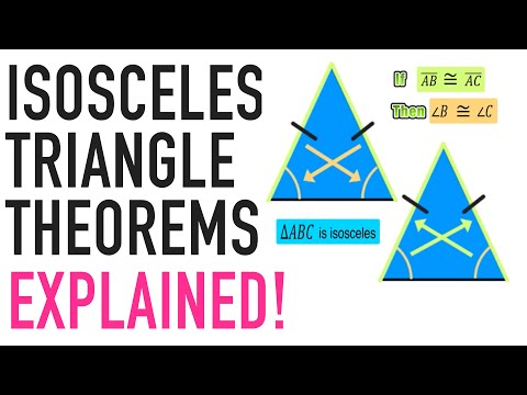 ☆ What is an Isosceles Triangle? Base Angle Theorem | Common Core Geometry