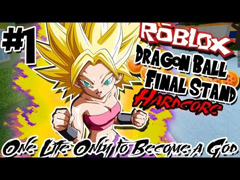 ONE LIFE ONLY TO BECOME A GOD!   Roblox: Dragon Ball Final Stand HARDCORE - Episode 1