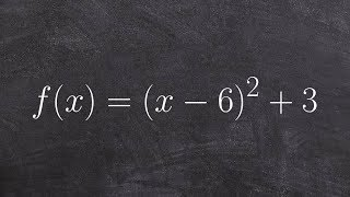 Pre Calculus How To Find The Vertex Of A Parabola In Standard Form Fx