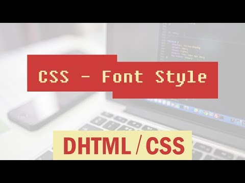 CSS Cascading Style Sheets | Font Style - Changing Font Colour | Stylish Font in CSS Part 10