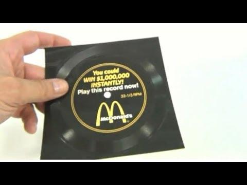 McDonald's Vintage 1988 Million Dollar Menu Song Record