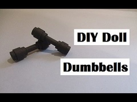 How To Make Barbie Doll Dumbbells : DIY Barbie Doll Weights