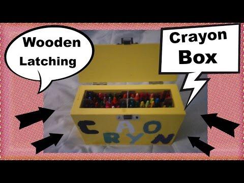 wooden Latching crayon box