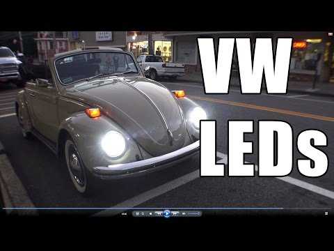 Classic VW BuGs How to Install LED Headlight Lighting Review Vintage Beetle Car