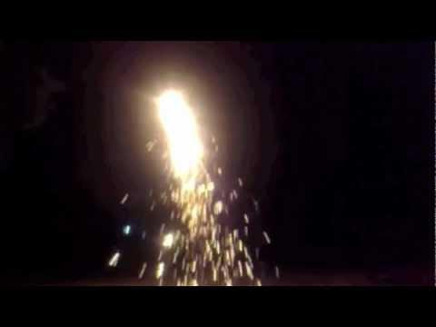 Home made sparkler rocket