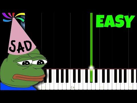 Happy Birthday, but it's so sad [Easy Piano Tutorial] (Synthesia)