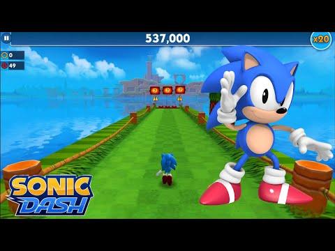 Sonic Dash (iOS) - Classic Sonic Gameplay