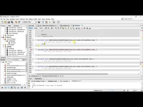 Java Tutorial - Creating a Java Gui Application with DataBase - Coding Part
