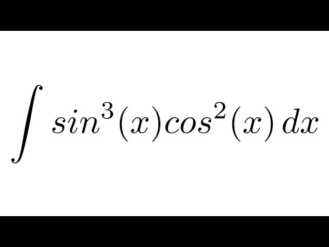 Integral of sin^3(x)cos^2(x) (substitution)