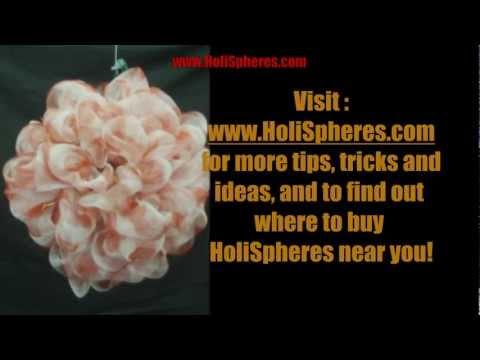 Make a DecoMesh Ribbon Ball with HoliSpheres - Short