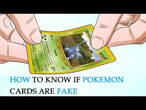 How to Know If Pokemon Cards Are Fake