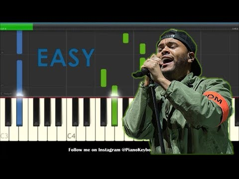 The Weeknd Call Out My Name Easy Piano Tutorial - How To Play