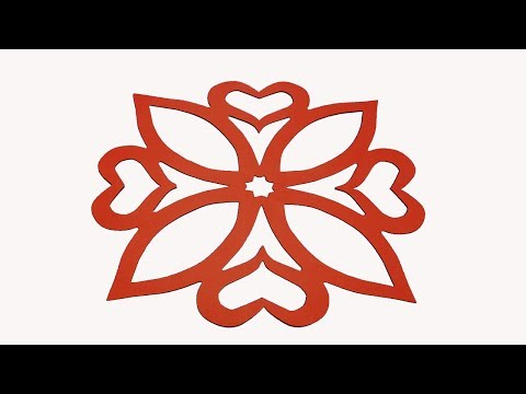 How to make simple & easy paper cutting flower designs? paper flower/ DIY Instructions step by step.