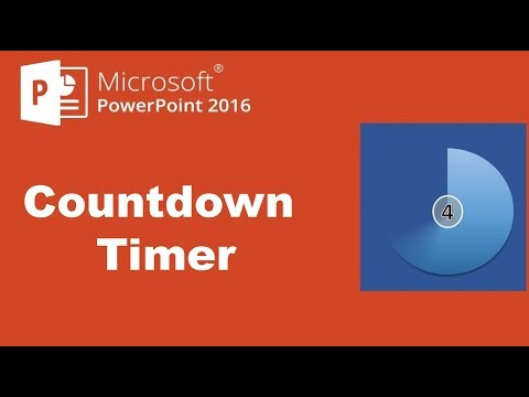How to Create a Countdown Timer using Animation in PowerPoint 2016