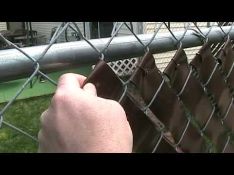 Vinyl Privacy Fence Weave - Easy How To Video