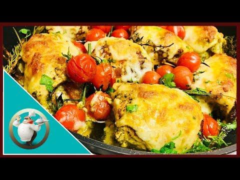 Chicken Pesto Roll-Ups | Cheesy Chicken And Pesto  Recipe