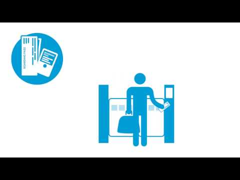 How to use electronic ticket scanners at Helsinki Airport