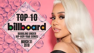 Top 10 • US Bubbling Under Hip-Hop/R&B Songs • March 31, 2018 | Billboard-Charts