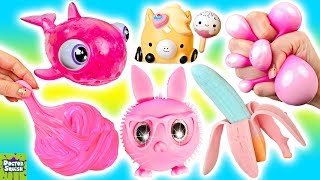 Download Cutting Open ALL PINK Squishy Toys! Pinkalicious Haul! Doctor Squish Video