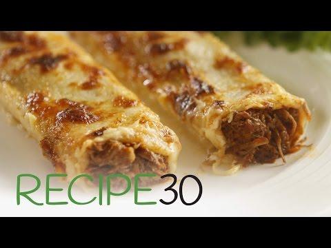 Beef Ragù Cannelloni - By RECIPE30.com