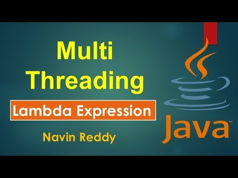 #10.3 Java Tutorial | Multithreading | Lambda Expression