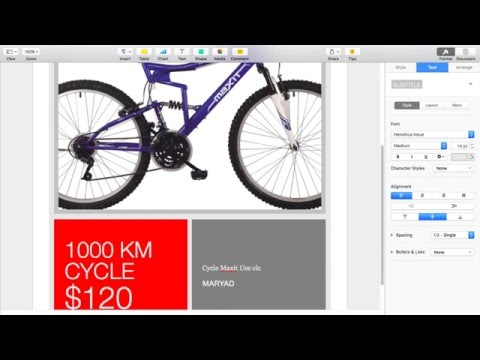 Create Advertisement Or Poster Use Application Pages MAC OS X