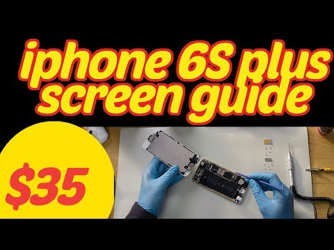 iPhone 6S plus screen replacement. for under $35. no steps missed.