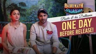 Badri & his Dulhania one day before the release! | Badrinath Ki Dulhania | Varun Dhawan | Alia Bhatt