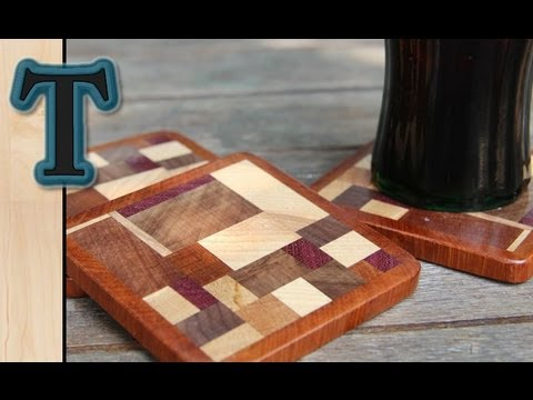 Woodworking Project | Scrap Wood Coasters/ Drink Mats