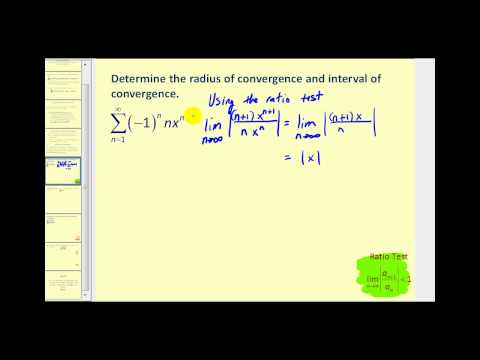 Power Series - Part 1 (radius and interval of convergence)