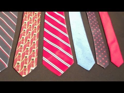 How to make your necktie thinner