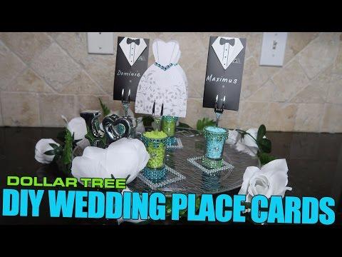 Dollar Tree DIY Wedding Place Cards