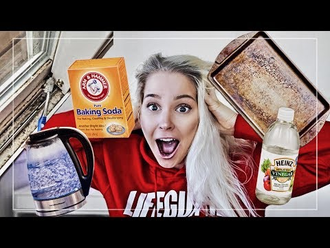 DEEP CLEANING HACKS | TESTING BAKING SODA VINEGAR AND PEROXIDE | SPRING CLEANING 2018