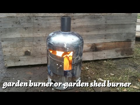 How to make a garden wood burner from a gas bottle