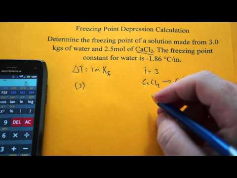 Freezing Point Depression Calculation (CaCl2)