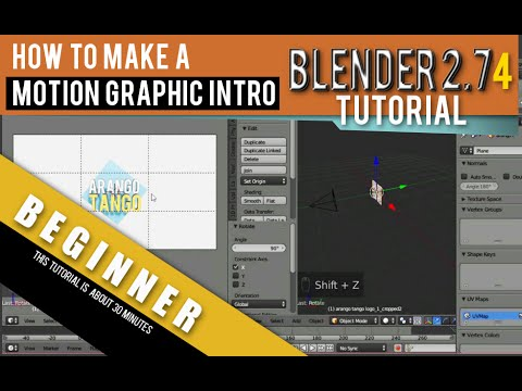 How To Make A Motion Graphic Intro Using Blender 2.74