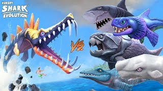 Hungry Shark Evolution LEO VS MEGALODÓN, LEVIATÁN, SR. MORDISCOS, ALAN, MOBY DICK Y MUCHO MAS!