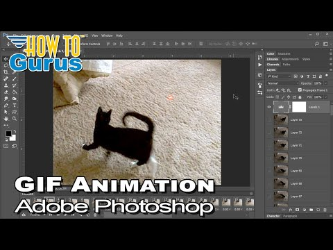 How To Photoshop Gif Animation from Video Tutorial: Creating a Gif in CC 2018 CS6 CS5