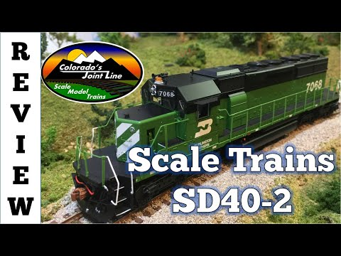 Review of Scale Trains Rivet Counter SD40-2 Train Engine