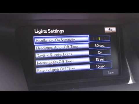 Lexus Nav In Depth How To-Headlamps On Sensitivity