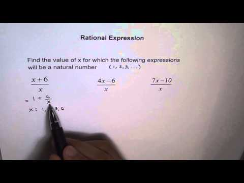 Find Values For Rational Function To Give Natural Numbers
