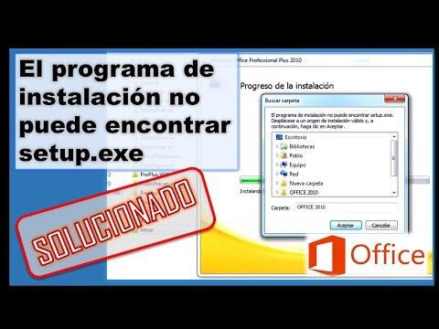 Error Office: El programa de instalación no puede encontrar setup.exe Setup can not find setup.exe