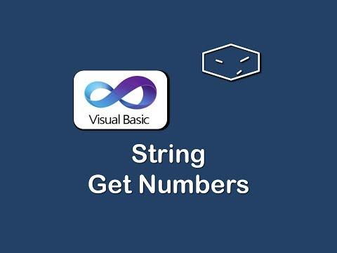 string get numbers in vb.net