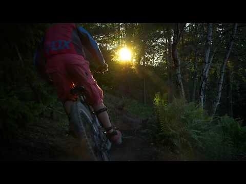 DUSTY MTB RIDE AT SUNSET IN SWEDEN